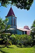 The christian church of Vao, Ile des Pins, New Caledonia, Melanesia, South Pacific