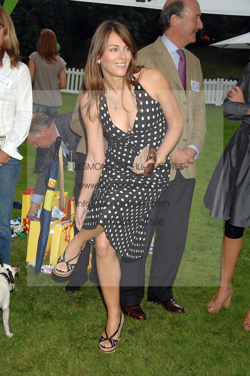 LIZ HURLEY  at Macmillan Dog Day in aid of Macmillan Cancer Support, held at Royal Hospital Chelsea, London on 3rd July 2007.<br /><br />NON EXCLUSIVE - WORLD RIGHTS