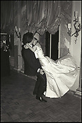 Lucinda West dancing with Olivier de Fallentons. James McMullen's 30th birthday. Clivenden. 24 October 1986. Film 86861f8