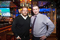 09/09/2015 Repro free: <br /> McGettigan's Galway Q&A session with Shane Lowry<br /> <br /> <br />  McGettigan's Galway were delighted to welcome WGC Bridgestone Champion and brand ambassador, Shane Lowry for his first visit to McGettigan's Galway for an exclusive Q&A session for invited guests.<br /> Shane discussed his rise from amateur status, all the challenges he's faced and overcome along the way and his most recent win at the WGC Bridgestone Championship. <br /> Shane hooked up with Brendan Maxwell Group Bar Manager  of McGettigan's .<br /> www.mcgettigans.com<br /> <br /> Follow McGettigan's Galway  on Twitter -@McGettigansGWY <br /> Photo:Andrew Downes, xposure.