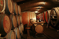 Domaine du Vissoux, Beaujolais..barrels in the cellars... September 16, 2007..Photo by Owen Franken for the NY Times.