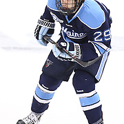 Connor Leen #29 of the Maine Black Bears on the ice during the game at Matthews Arena on February 22, 2014 in Boston, Massachusetts. (Photo by Elan Kawesch)