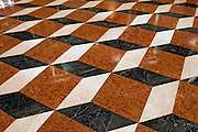 Three dimensional floor painting forming Abstract Pattern, Venetian Hotel Las Vegas Nevada