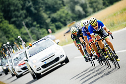 Runaway group during 1st Stage of 25th Tour de Slovenie 2018 cycling race between Lendava and Murska Sobota (159 km), on June 13, 2018 in  Slovenia. Photo by Vid Ponikvar / Sportida