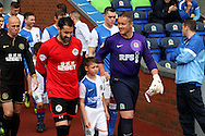 Wigan Athletic&rsquo;s Scott Carson (left) and Blackburn Rovers&rsquo; Paul Robinson (right) head out of the tunnel. Skybet football league championship match, Blackburn Rovers v Wigan Athletic at Ewood Park in Blackburn, England on Saturday 3rd May 2014.<br /> pic by Chris Stading, Andrew Orchard sports photography.