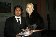 PRINCE BAHAR JEFRI AND MARGO WEBER, Women for Women International UK Gala Evening. V. & A. 29 April 2008.  *** Local Caption *** -DO NOT ARCHIVE-© Copyright Photograph by Dafydd Jones. 248 Clapham Rd. London SW9 0PZ. Tel 0207 820 0771. www.dafjones.com.