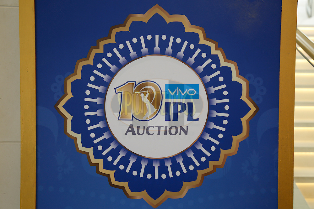 A general view during the Vivo IPL 2017 Player Auction held at the Carlton-Ritz hotel in Bangalore on the 20th February  2017<br /> <br /> Photo by Deepak Malik / IPL / SPORTZPICS