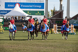 Team Switzerland winners of the BMO Financial Group Nations Cup<br /> Team Switzerland, Guerdat Steve, Petyer Steiner Nadia, Muff Werner, Juffer Alain <br /> CSIO 5* Spruce Meadows Masters - Calgary 2016<br /> © Hippo Foto - Dirk Caremans<br /> 11/09/16