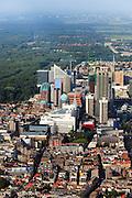 Nederland, Zuid-Holland, Den Haag, 23-05-2011;.Zicht  noordwaarts op centrumv van Den Haag  met o.a. ministerie van Onderwijs in de Vulpen en het Stadhuis (witte gebouw) aan het Spui. en de Grote Markstraat.  View on the center of The Hague to the North with City Hall (white building). .luchtfoto (toeslag), aerial photo (additional fee required).copyright foto/photo Siebe Swart