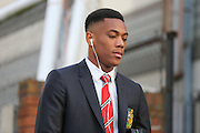 Anthony Martial of Manchester United before the Barclays Premier League match between Crystal Palace and Manchester United at Selhurst Park, London, England on 31 October 2015. Photo by Ellie Hoad.