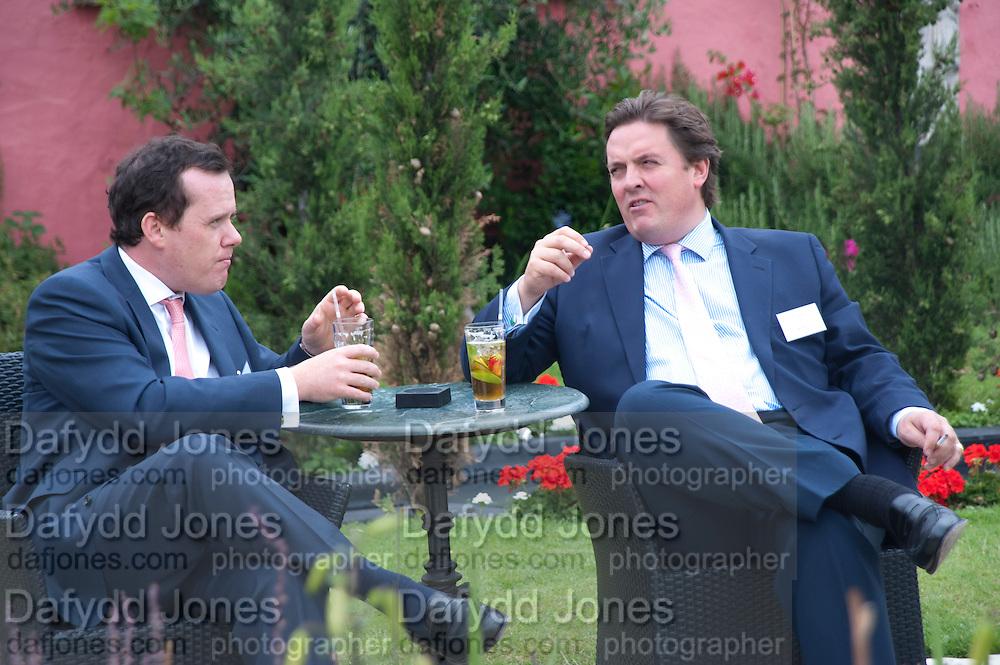 CHARLES FINDLATER; BEN OSBOURNE, Archant Summer party. Kensington Roof Gardens. London. 7 July 2010. -DO NOT ARCHIVE-© Copyright Photograph by Dafydd Jones. 248 Clapham Rd. London SW9 0PZ. Tel 0207 820 0771. www.dafjones.com.