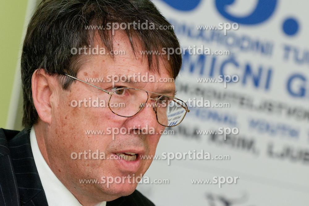 Viljem Psenicny at Press conference of 25th International tournament MTM Narodni dom, on April 3, 2012 at Unija racunovodska hisa d. d., Brezovica, Slovenia. (Photo By Matic Klansek Velej / Sportida.com)