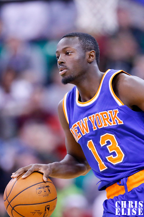 09 December 2015: New York Knicks guard Jerian Grant (13) brings the ball up court during the Utah Jazz 106-85 victory over the New York Knicks, at the Vivint Smart Home Arena, Salt Lake City, Utah, USA.