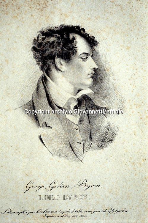 George G. Byron (Lord Byron)<br />archivio Giovannetti/effigie