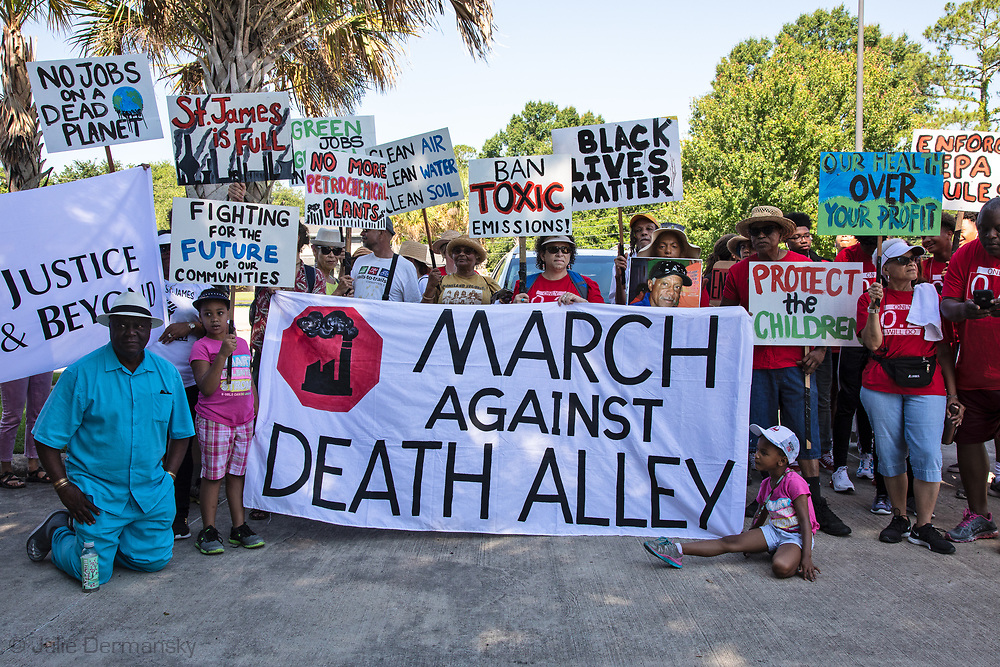 Press confernce before the Coalition Agianst Death Alley march in St. John the Baptist Parish  on May 30, 2019- the first strech of a planned five day event. The marchers left from the 5th Ward Elementary School.
