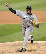 CHICAGO - JUNE 06:  Michael Pineda #36 of the Seattle Mariners pitches against the Chicago White Sox on June 6, 2011 at U.S. Cellular Field in Chicago, Illinois.  The White Sox defeated the Mariners 3-1.  (Photo by Ron Vesely)  Subject:  Michael Pineda
