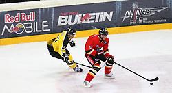 15.12.2012, Albert Schultz Eishalle, Wien, AUT, European Trophy, Viertelfinale, Lulea Hockey vs UPC Vienna Capitals, im Bild Marcus Olsson, (UPC Vienna Capitals, #20) und Johan Fransson, (Lulea Hockey, #10)  // during the European Trophy Icehockey quarterfinal match betweeen Lulea Hockey (SWE) vs UPC Vienna Capitals (AUT) at the Albert Schultz Eishalle, Vienna, Austria on 2012/12/15. EXPA Pictures © 2012, PhotoCredit: EXPA/ Thomas Haumer