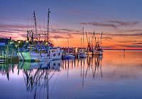 Shem Creek shrimp boats sunset 2012