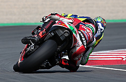 May 23, 2018 - Barcelona, Spain - Scott Redding (Aprilia) and Valentino Rossi (Yamaha) during the Moto GP test in the Barcelona Catalunya Circuit, on 23th May 2018 in Barcelona, Spain. (Credit Image: © Joan Valls/NurPhoto via ZUMA Press)