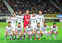Team WAC during football match between WAC Wolfsberg (AUT) and  Borussia Dortmund (GER) in First leg of Third qualifying round of UEFA Europa League 2015/16, on July 30, 2015 in Wörthersee Stadion, Klagenfurt, Austria. Photo by Vid Ponikvar / Sportida