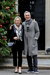 © Licensed to London News Pictures. 10/12/2018. London, UK. Shirlie and Martin Kemp in arrives in Downing Street for a Children Christmas reception in No 11 Downing Street, hosted by Philip Hammond . Photo credit: Dinendra Haria/LNP