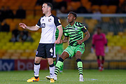 Forest Green Rovers Ebou Adams(14) in action  during the EFL Sky Bet League 2 match between Port Vale and Forest Green Rovers at Vale Park, Burslem, England on 20 August 2019.