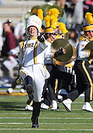 September 22 2012: Iowa Hawkeyes Drum Major Quentin Marquez takes the field with the Hawkeye Marching Band before the start of the NCAA football game between the Central Michigan Chippewas and the Iowa Hawkeyes at Kinnick Stadium in Iowa City, Iowa on Saturday September 22, 2012. Central Michigan defeated Iowa 32-31.