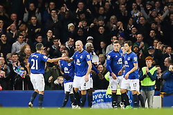Everton's Ross Barkley celebrates after scoring his sides third goal - Photo mandatory by-line: Matt McNulty/JMP - Mobile: 07966 386802 - 15/03/2015 - SPORT - Football - Liverpool - Goodison Park - Everton v Newcastle United - Barclays Premier League