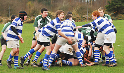 Garbally College scrum half sets up another attack against Rice College Westport in the Connacht Schools Junior Cup tie...Pic Conor McKeown