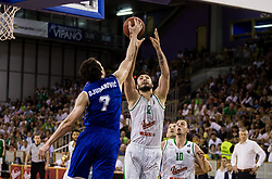 Dragan Duranovic of Rogaska vs Nikola Jankovic #12 of KK Union Olimpija during basketball match between KK Union Olimpija and KK Rogaska in 2nd Final game of Liga Nova KBM za prvaka 2016/17, on May 19, 2017 in Hala Tivoli, Ljubljana, Slovenia. Photo by Vid Ponikvar / Sportida