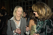 SANDRA HOWARD AND EMMA CHEAPE, The Tatler Travel Awards 2008. The Ritz, Piccadilly. London. 3 December 2007. -DO NOT ARCHIVE-© Copyright Photograph by Dafydd Jones. 248 Clapham Rd. London SW9 0PZ. Tel 0207 820 0771. www.dafjones.com.