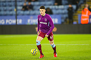 West Ham United midfielder Declan Rice (41) warms up during the Premier League match between Leicester City and West Ham United at the King Power Stadium, Leicester, England on 22 January 2020.
