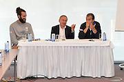 DESCRIZIONE: Berlino EuroBasket 2015 - Allenamento<br /> GIOCATORE:Luigi Datome Gianni Petrucci <br /> CATEGORIA: Conferenza Stampa<br /> SQUADRA: Italia Italy<br /> EVENTO:  EuroBasket 2015 <br /> GARA: Berlino EuroBasket 2015 - Allenamento<br /> DATA: 04-09-2015<br /> SPORT: Pallacanestro<br /> AUTORE: Agenzia Ciamillo-Castoria/M.Longo<br /> GALLERIA: FIP Nazionali 2015<br /> FOTONOTIZIA: Berlino EuroBasket 2015 - Allenamento