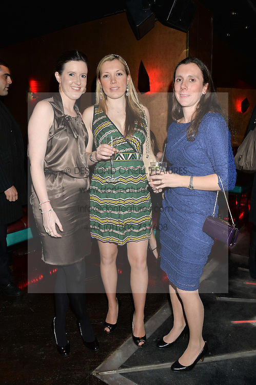 Left to right, GEORGINA LEWIS, DAISY BARTLETT and CHARLOTTE WINHAN at a party in aid of the Youth at Risk charity held at Raffles, 287 King's Road, London on 27th November 2013.