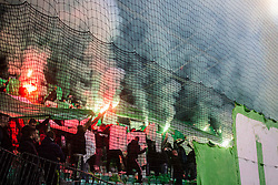 NK Olimpija fans, Green Dragons during football match between NK Olimpija Ljubljana and NK Maribor in 1st leg match in Quaterfinal of Slovenian cup 2017/2018, on November 11, 2017 in SRC Stozice, Ljubljana, Slovenia.  Photo by Ziga Zupan / Sportida