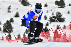 LUCHINI Jacapo, SB-UL, ITA, Banked Slalom at the WPSB_2019 Para Snowboard World Cup, La Molina, Spain
