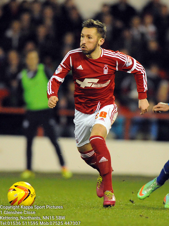 RADOSLAW MAJEWSKI, Nottingham Forest, Nottingham Forest v Leicester City, City Ground Nottingham,  Sky Bet Championship, 19th Febuary 2014