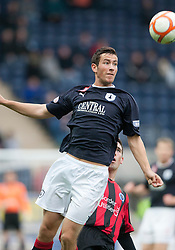 Falkirk's Kieron Duffie..Falkirk 1 v 0 Queen of the South, 15/10/2011..Pic © Michael Schofield.