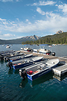 Boat dock Redfish Lake Sawtooth Mountains Idaho