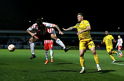 James Clarke of Bristol Rovers is beaten to the ball - Mandatory by-line: Robbie Stephenson/JMP - 19/04/2016 - FOOTBALL - Lamex Stadium - Stevenage, England - Stevenage v Bristol Rovers - Sky Bet League Two