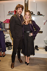 Kimberly Wyatt and Max Rogers at a party to launch Ashley Robert's new footwear range Allyn held ay Larizia, 74 St.John's Wood High Street, London England. 8 February 2017.