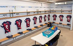 Changing room ready - Mandatory by-line: Paul Knight/JMP - 26/10/2019 - RUGBY - Shaftesbury Park - Bristol, England - Bristol Bears Women v Richmond Women - Tyrrells Premier 15s