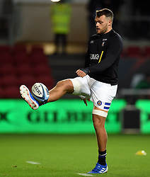 Zach Mercer of Bath Rugby in action during the pre-match warm-up - Mandatory byline: Patrick Khachfe/JMP - 07966 386802 - 18/10/2019 - RUGBY UNION - Ashton Gate Stadium - Bristol, England - Bristol Bears v Bath Rugby - Gallagher Premiership