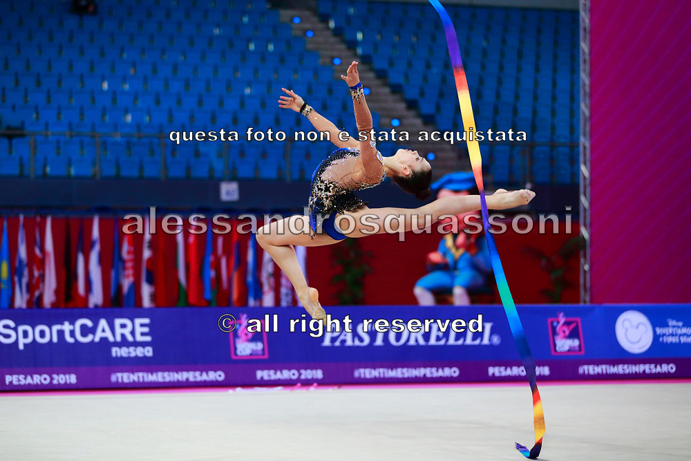 Berezina Polina Qualification Ribbon World Cup Pesaro 2018 Polina Berezina was born in Moscow in Russia on December 5th 1997, she has been living in Spain near Alicante for some years, her team is Club Torrevieja and she is coached by Mónica Ferrández.