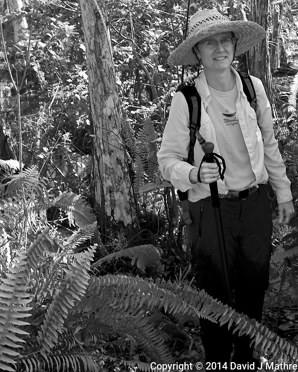Just about out of the jungle. Swamp walk with Kristen and Angela in the Everglades behind  Clyde Butcher's Big Cypress Gallery. Image taken with a Leica X2 camera (ISO 100, 24 mm, f/4, 1/100 sec).