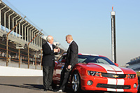 Chevrolet Indy Car engine announcement, Indianapolis Motor Speedway, Roger Penske, Tom Stephens