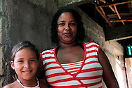 Woman and girl in Yumuri, Guantanamo, Cuba.