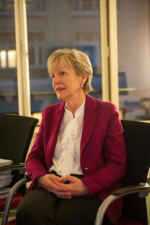 8 March 2014, Paris, France. Prosecutor Eliane Houlette (64), appointed in 2014 at the head of the national financial court, in charge of the Fillon case, in her office. This national financial prosecutor fights against economic and financial delinquency, she is in charge of the Affaire Fillon, known as &quot;Penelope gate&quot;, and also dealt with the affaire Cahuzac.<br /> <br /> 8 mars 2014, Paris, France.  La procureur Eliane Houlette (64 ans), nomm&eacute;e en 2014 &agrave; la t&ecirc;te du parquet national financier, charg&eacute; de l'affaire Fillon, dans ses bureaux. Cette procureur financier national lutte contre la d&eacute;linquance &eacute;conomique et financi&egrave;re, elle est en charge de l'affaire Fillon, dite &quot;Penelope gate&quot;, et s'est aussi occup&eacute; de l'affaire Cahuzac.