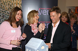 Left to right, founder of the London Haven SARA DAVENPORT, HRH COUNTESS OF WESSEX and BRYAN ADAMS the at a party attended by HRH The Countess of Wessex to celebrate the 5th birthday of Breast Cancer Haven's - The London Haven, Effie Road, London on 10th February 2005.<br />