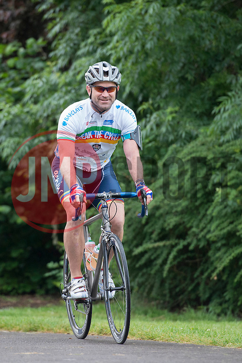 Ben Breeze Cycles through Greville Smyth Park during Break the Cycle  - Photo mandatory by-line: Dougie Allward/JMP - Mobile: 07966 386802 - 14/06/2015 - SPORT - Cycling - Bristol - Ashton Gate - Bristol Rugby Community Foundation - Break the Cycle